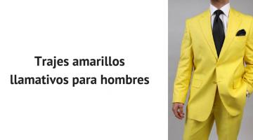 trajes amarillos