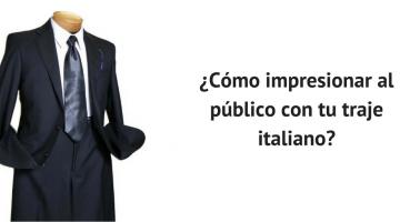 traje italiano
