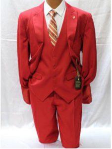 trajes rojos