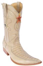4f3251ba3 Beige Orix Caimán Piel Occidental Equitación Bota