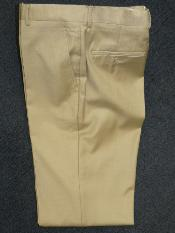 Beige 100% Lana Pantalones