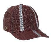 Borgoña Avestruz Piel Sombrero