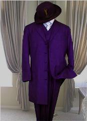 Largo Oscuro Púrpura Moda
