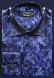 Azul Lujoso Poliéster Vestir