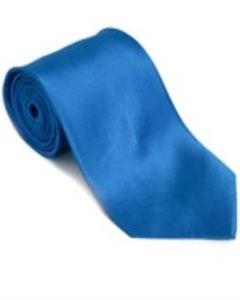 azul Corbata Sólida de