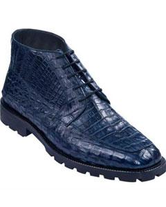 Azul Gator Piel Zapatos