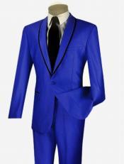 Botón Real Azul Sheened