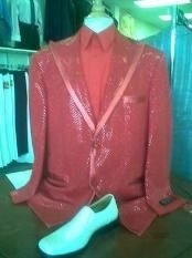 Metálico Rojo Pico Collar