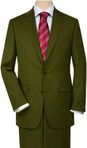 Verde Comodidad Ajuste Chaqueta
