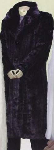 SKU*WE622 Longitud Larga Masculina Abrigo de Piel de Faux Negros