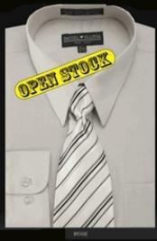 SKU * EG455 Hombres Camisa con Pareo Corbata y Pañuelo