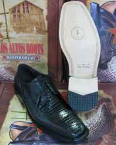 SKU*HA367 Vestido negro genuino del lagarto de Teju y zapato muy de moda