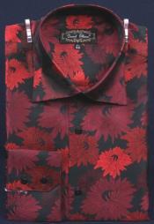 y Rojo Floral Lujoso
