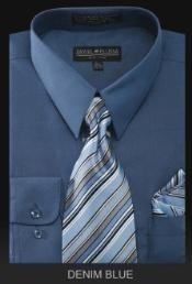 Azul Largo Mangas Vestir