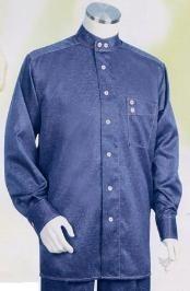 SKU*CX953 Azul Largo Manga Camisa con Amplio Pierna Pantalón