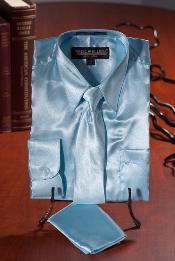 Ligero Azul Satín Vestir
