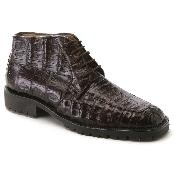 SKU*MQ2464 Zapatos de Caimán de Cuero de Cocodrilo Genuinos Marrones