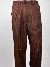 Pierna Plisado marrón Rayado