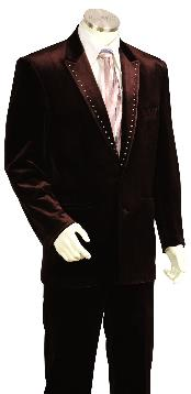 SKU*NR7812 Esmoquin Único de Moda Largo Marrón Elegante Masculino
