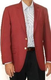 SKU * GD6823 Borgoña ~ ~ Castaño Color de vino de dos botones Blazer mezcla de lana (hombres + mujeres)