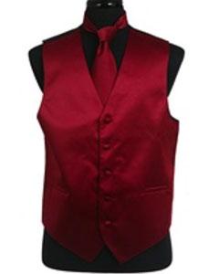 Color Chaleco Corbata Conjunto