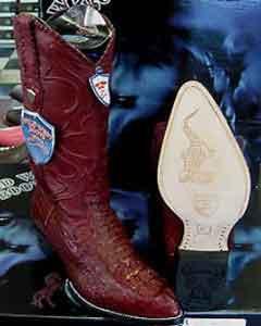 SKU*X48-R Salvaje Oeste Auténtico Cocodrilo occidental Vaquero Bota Borgoña