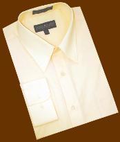 SKU*KP288 Sólido mantequilla Convertible Bofetada Algodón Mezcla Vestir Camisa