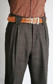 pierna ancha carbón pantalón