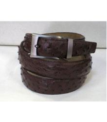 SKU*HA233 De los hombres  Auténtico marrón Avestruz Cinturón & ajuste hebilla