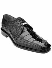Hornback Cocodrilo negro Encaje
