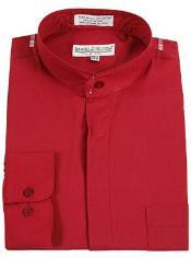 SKU*RM1077 Borgoña Daniel Ellissa Congregado Collar Vestir Camisa