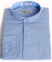 Azul Algodón Congregado Collar