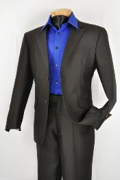 SKU*QQ4822 Hombres Delgado Ajuste Negro trajeen línea venta