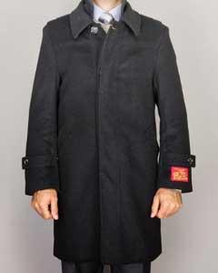 Negro lana Cachemira Mezcla