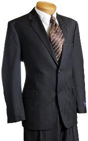 negro rayado lana italiano