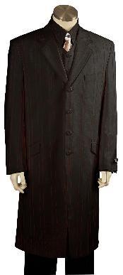SKU*VT8173 Pleito de Zoot de moda exclusivo negro sólido masculino Negros