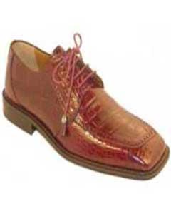 Borgoña Zapatos de Caimán