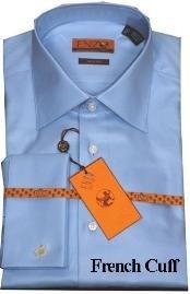SKU*RT334 Mens Camisa francés de Sarga Azul Abofetean 61102-2