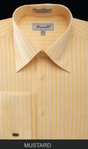 SKU*PKM54 Mostaza espina de pescado raya brazalete francés camisa de vestir