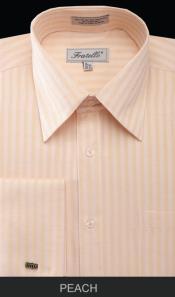 SKU*PVM81 Melocoton espina de pescado raya brazalete francés camisa de vestir
