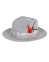 gris Masculino Fedora Hat
