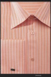 SKU*WVQ2 Naranja espina de pescado raya brazalete francés camisa de vestir