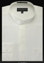 SKU*YX534 camisas de etiqueta de Cuello Divididas en bandas Básicas sin Marfil de Mandarín de cuellos