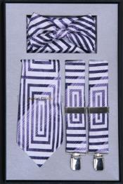 lavanda liga con corbata