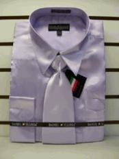 SKU * BH100 Camisa de raso vestido de Nueva Lavender Tie Combo camisas de los hombres de