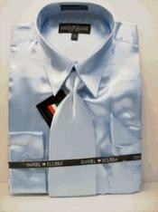 SKU * GY661 hombres La camisa nueva Cielo Azul Dress satén Tie Combo Camisas