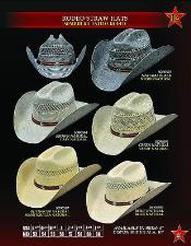 Vaquero Rodeo Paja Sombreros