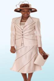 SKU*KA6892 Lynda Couture Promocional Trajes para Mujeres - Champagne con Marrón