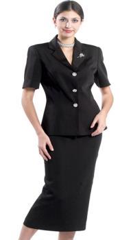 Negro Lynda Couture Traje