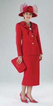 Lynda Couture rojo Trajes